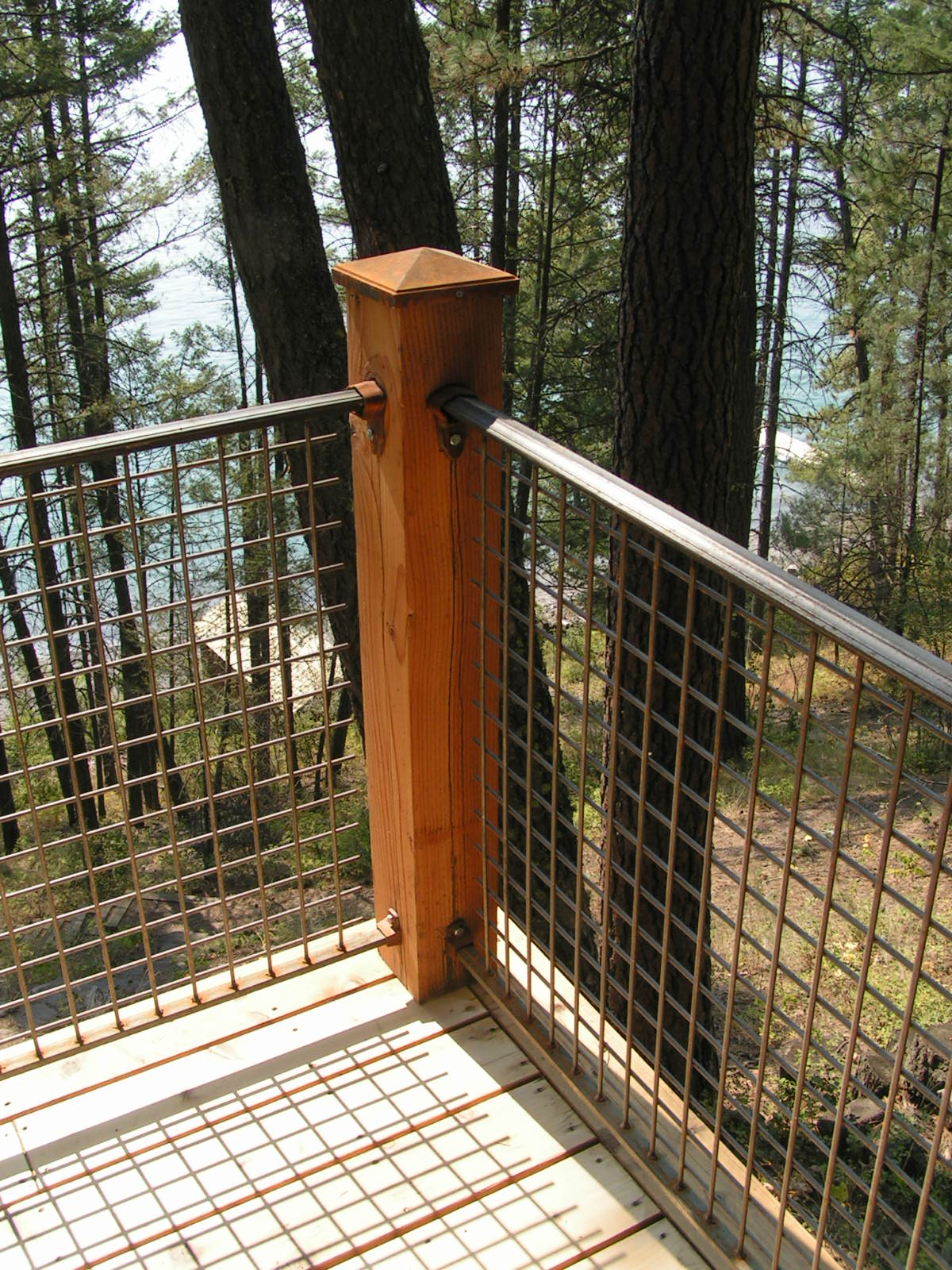 Outdoor-railing-banister-iron-mesh