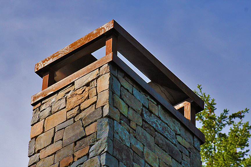 Custom Chimney Caps ~ Acutech works our projects