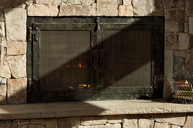 hand-forged-iron-fireplace-doors - Acutech Works Hand Forged Iron Fireplace Doors - Acutech Works