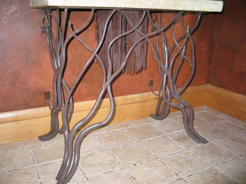 Pedestal Sink Ironwork Vines