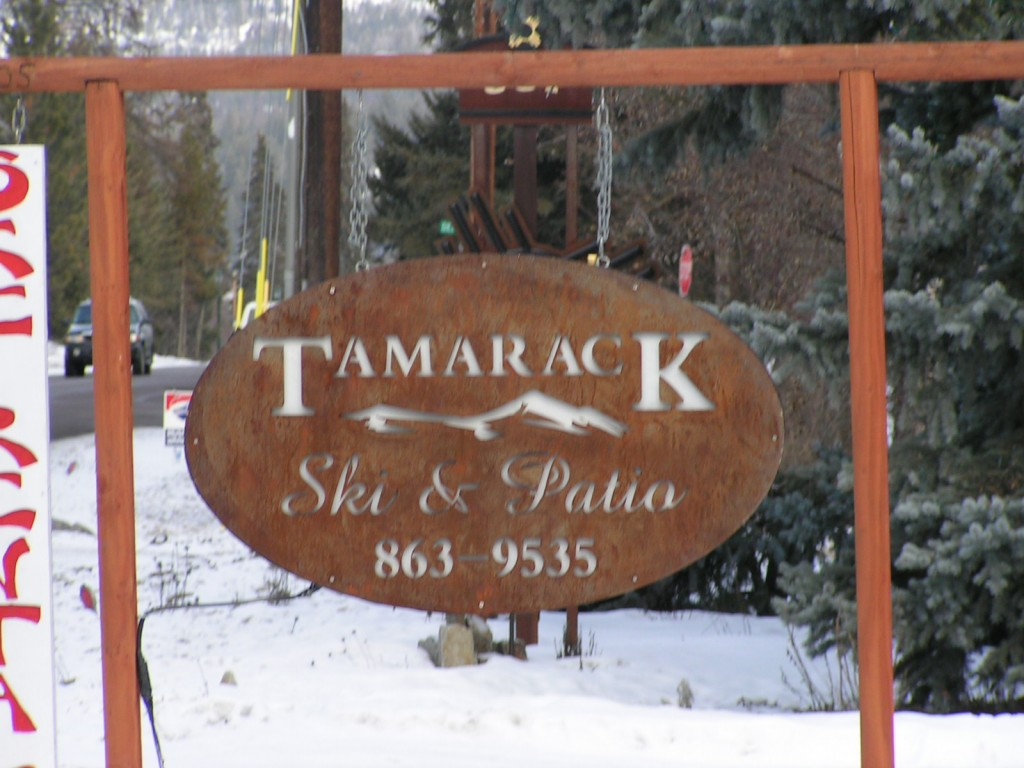signage-water-jet-cutting-Tamarack-Ski-Shop-rusted-steel