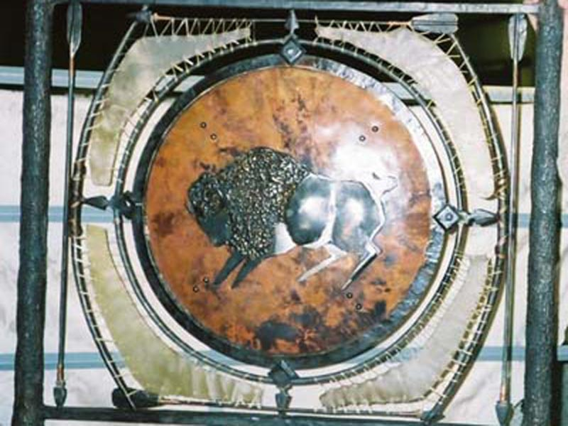 buffalo-iron-metal-art-home-decoration
