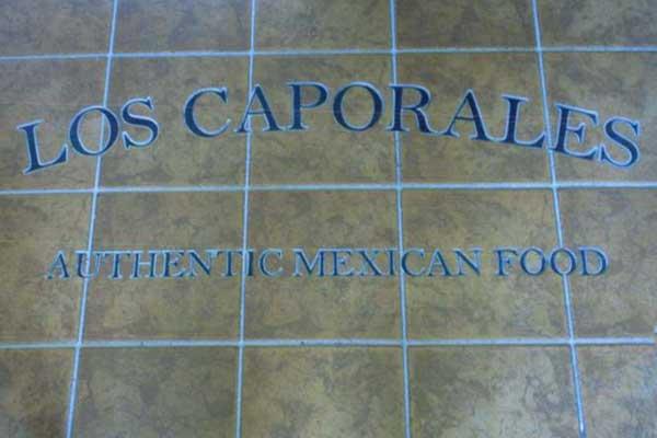 los-caporales-floor-inlay-sign