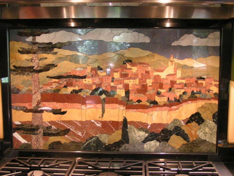 marble-tile-inlay-waterjet-cut-stove-backsplash