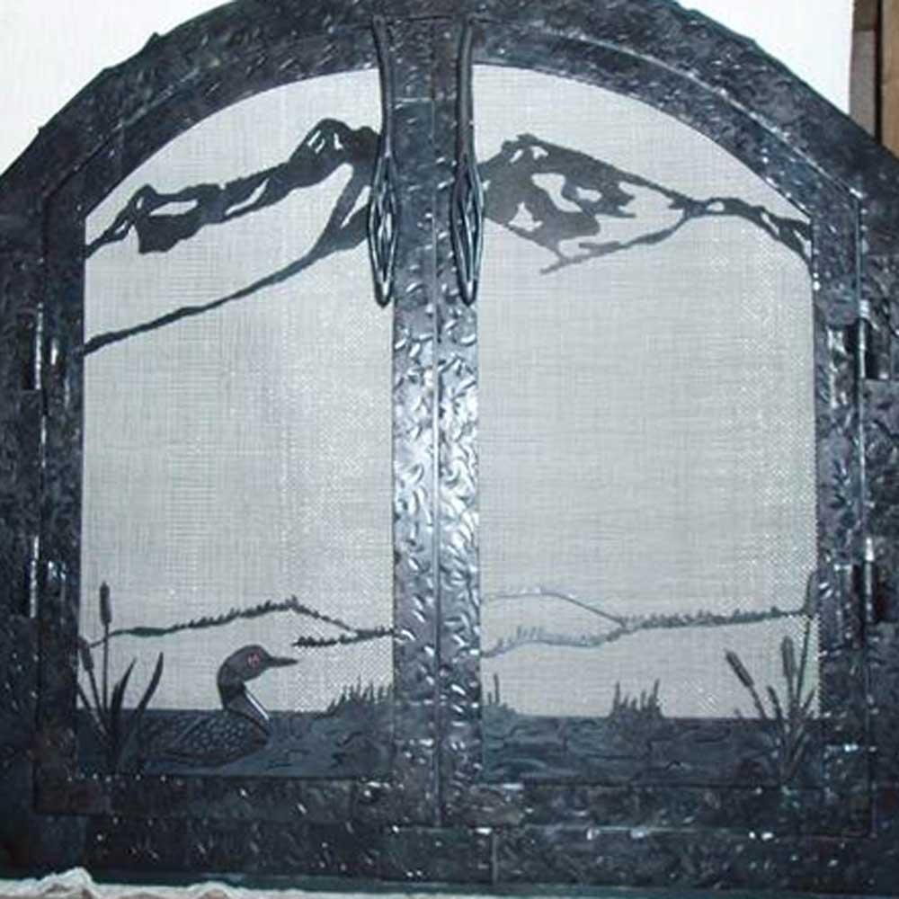 metal-fireplace-doors-duck-lake-mountains