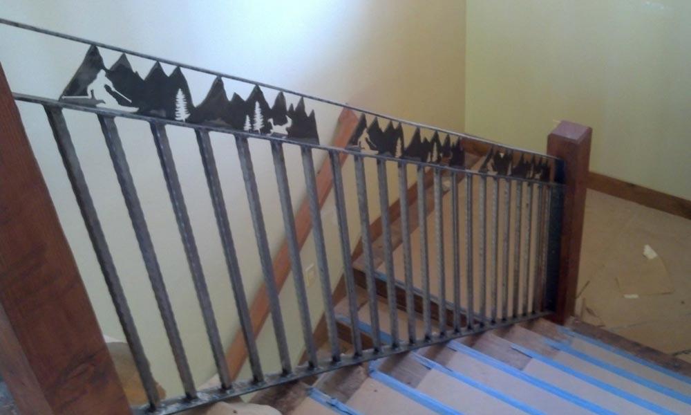 skier-cut-out-stairway-metal-railing